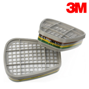 3M 6059 ABEK1 Gas and Vapour Cartridges/Filters (Pack-2) Made in UK