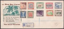 NIUE 1950 Definitive set on registered FDC to New Zealand....................237