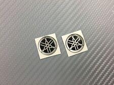 2 Adesivi Diapason SILVER & BLACK 3D resinato 20 mm Tmax Xmax R1 R6 MT Racing