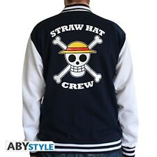 "ONE PIECE Teddy ""Skull"" College Jacke navy/white Sweatshirt NEU NEW Weste Gr. L"