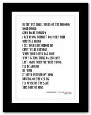 More details for ❤ frank sinatra ❤ classic album typography poster art print