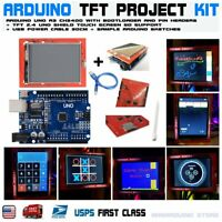"2.4"" TFT LCD Display Shield Touch Screen + UNO R3 ATmega328p Arduino Compatible"