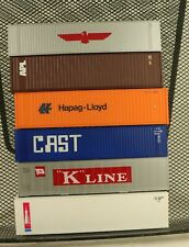 (6) Athearn 40' Containers Various Manufacturers 1/87 HO Scale