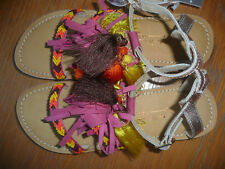 BNWT Next Girls Leather Sandals/ Multi Coloured/ Size 3
