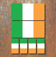 Irish Ireland Flag Laminated Sticker Set Small Car Motorcycle Mountain Bike