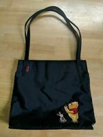 "Walt Disney Winnie the Pooh Bag Handbag Purse Shopper Tote Bag Black 13.5""x12.5"""