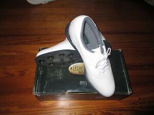 New Dexter DrySports LDS120 Golf Shoes White Saddle Size 8 1/2 M F714-9 Style
