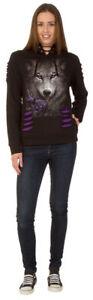 Spiral Direct WOLF ROSE Ladies Hood/Wolf/Goth/ design/ Purple/