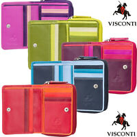 Visconti Women's Gift Boxed RFID Small Real Soft Leather Purse Wallet RB53