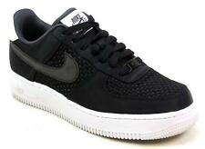 WOMENS NIKE AIR FORCE 1 07 SE PREMIUM BLACK WOVEN RETRO VINTAGE TRAINERS SIZE 5