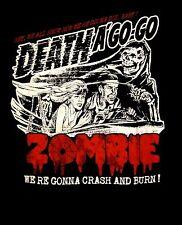ROB ZOMBIE cd lgo ZOMBIE CRASH DEATH A GO GO Official SHIRT XL New white zombie