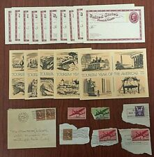 Lot of 14 Vintage U.S. Postal Cards 1972 & 1973 Tourism Anniversary + 1945 Cover