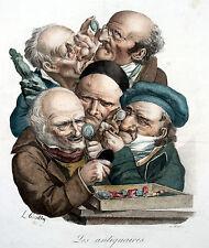 BOILLY Delpech um 1820 Les Antiquaires Die Antiquitätenhändler Antique Dealer