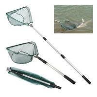 Telescopic Folding Aluminum Handle Fishing Landing Net 3 Section Extending Pole