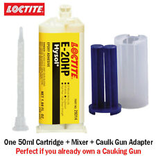 Loctite EA-Hysol E-20HP Toughened 20-Min Off-White Epoxy-50ml+Caulk Gun Adapter