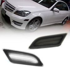 Smoke Lens White Led Front Side Marker Light for 12-14 Benz W204 C250 C300 C350