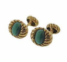 Malachite 18k Gold Cufflinks Tiffany & Co Schlumberger