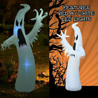 12FT Halloween Outdoor Inflatable Blow Up Ghost w/LED Lights Haunted House Decor