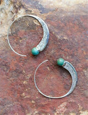 Women Vintage Silver Plated Turquoise Crystal Clip On Earrings Wedding Jewelry