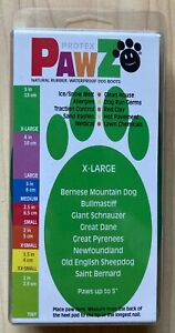Protex Pawz Waterproof Dog Boots Shoes Size XL Natural Rubber Disposable Reuse