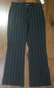 Nwts! Women's EP Pro Stretch Golf Pants Size 10 Black Striped (Inventory W40)