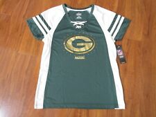 NEW NFL Green Bay Packers Lace Up Jersey Shirt MAJESTIC Womens L Green White