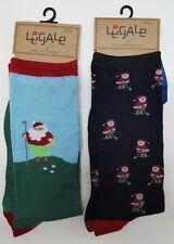 2 Pair LEGALE Santa Christmas Socks Shoe 10-13 Santa Golfer Winter Summer