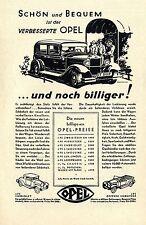 Die neuen billigeren OPEL-PREISE Historische Reklame von 1930