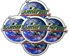 5 Earth First Oilfield Hardhat Stickers Roughneck Drilling Rig Oil Rig