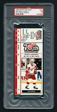 PSA 7 STEVE YZERMAN Unused NHL Ticket for the Oilers at the Red Wings