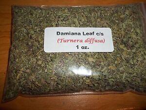 1 oz. Damiana Leaf c/s (Turnera diffusa)