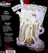 Bucilla WHITE CHRISTMAS Felt Stocking Kit Rare Bucilla Original Factory Direct