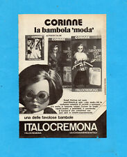 TOP974-PUBBLICITA'/ADVERTISING PAGE-1974- ITALOCREMONA - BAMBOLA CORINNE
