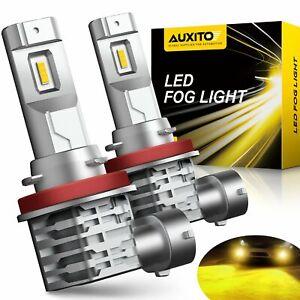 AUXITO FANLESS YELLOW LED Fog Lights Bulbs H11 H16 H8 for Audi BMW Mercedez VW