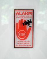 4 Stück ALARM STOP VIDEO POLIZEI / Aufkleber / Auto / Haus / Boot / TOP