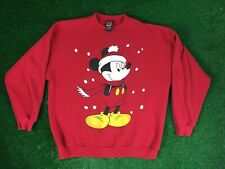 Mickey Unlimited Jerry Leigh Santa Mickey Mouse Disney Crewneck Sweater XL Vtg