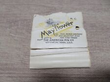 Vintage The Mayflower American Pin Co. Store Display Adv. Dress Making S374