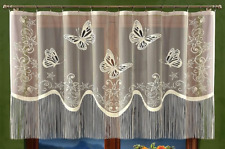 Net Curtain With Fringe Ideal For Living Room, Bedroom, Kitchen, Dining Room