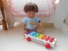 Mini Fisher Price xylophone for Ellery Kish or 5-8� baby doll Diorama