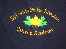 SYLVANIA POLICE DIVISION polo shirt 3XL Citizen Academy XXXL embroidery OHIO