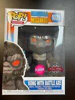 FUNKO POP Godzilla vs Kong 1021 Flocked Battle Axe IN HAND Special edition