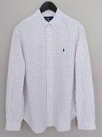 Men Ralph Lauren Casual Shirt Check Cotton 17 XL MIA131