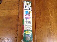 "NEW BIRTHDAY CAKE Decorative Nylon Appliqué Large Garden Flag 28"" X 40"""