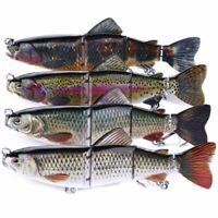4 Segment 16cm Swimbait Lures Fishing Bait Fish Lure Crankbait Hooks Well-liked