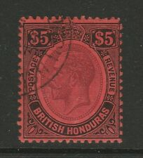 British Honduras 1922-33 $5 Purple & black/ red SG 125 Fine used.
