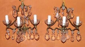 Vintage French Wall Chandelier x 2