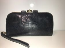 Used, Hobo International Lisa Leanne Black Kiss Lock Wallet Clutch Wristlet