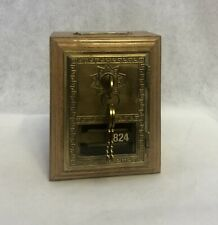 New ListingVintage Post Office Po Mail Box Door Bank Brass And Wood
