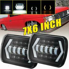 """2X 7x6""""Inch LED Headlight DRL Replacement H6054 H6014 For Nissan Pickup Hardbody"""