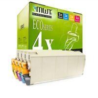 4x MWT Eco Cartucho para Oki C-711-N C-711-CDTN C-710-CDTN C-711-DTN C-711-DN